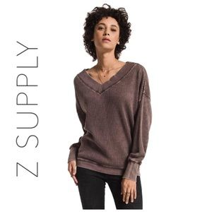 Z SUPPLY   Emilia Thermal Top in Size XS
